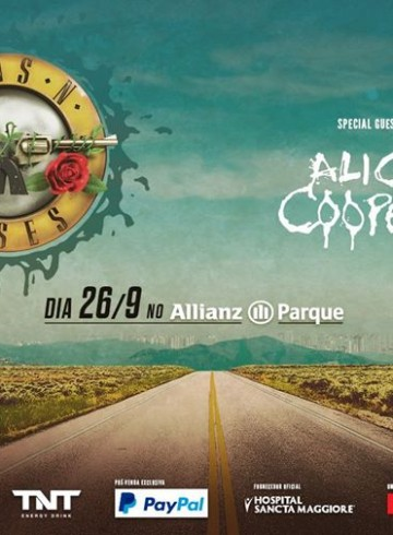 EXCURSÃO SÃO PAULO TRIP – Guns N' Roses + Alice Cooper dia 26
