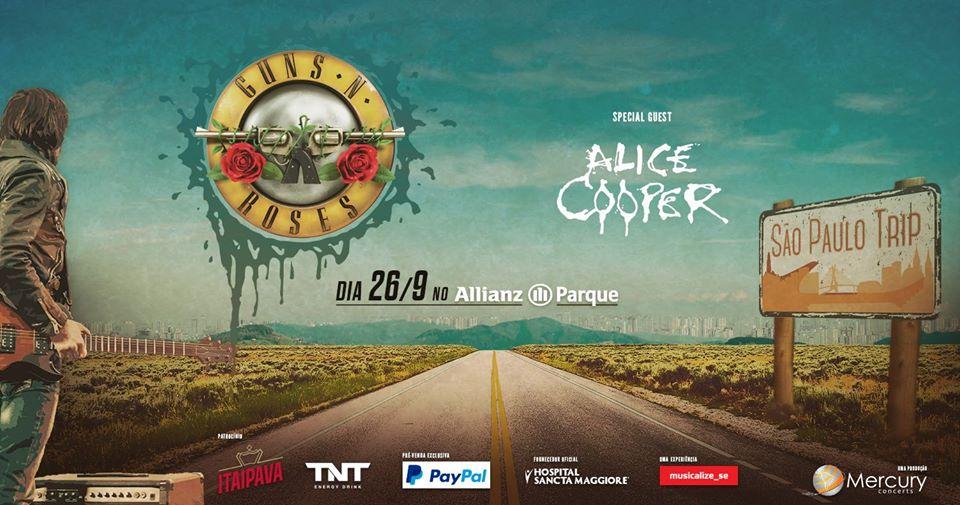 EXCURSÃO SÃO PAULO TRIP – Guns N' Roses + Alice Cooper