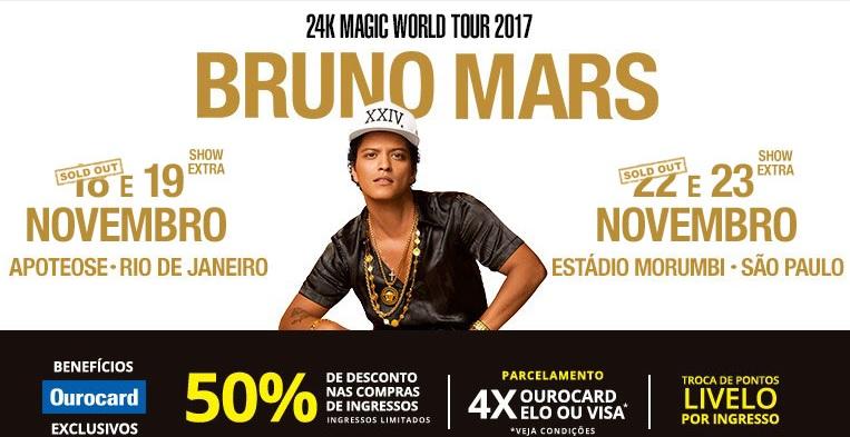 EXCURSÃO Bruno Mars  SP2017 # Extra