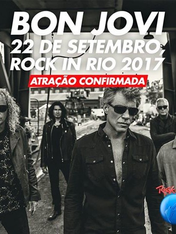 EXCURSÃO ROCK IN RIO 2017 – 22/09 – Sexta Feira- Bon Jovi
