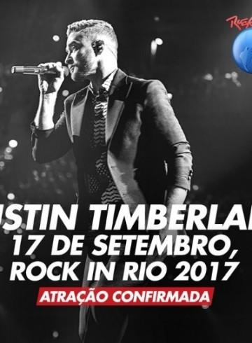 EXCURSÃO ROCK IN RIO 2017 – 17/09 – Domingo –  Justin Timberlake