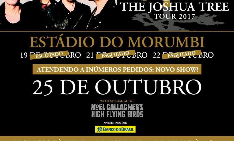 EXCURSÃO U2 MORUMBI # 25/10 – SP 2017