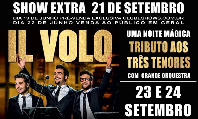 EXCURSÃO IL VOLO  – SP 2017 21, 23 e 24 Setembro
