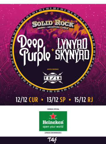 EXCURSÃO Solid Rock – Deep Purple & Lynyrd Skynyrd & Tesla