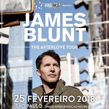 James Blunt retorna ao Brasil em 2018 para única apresentação