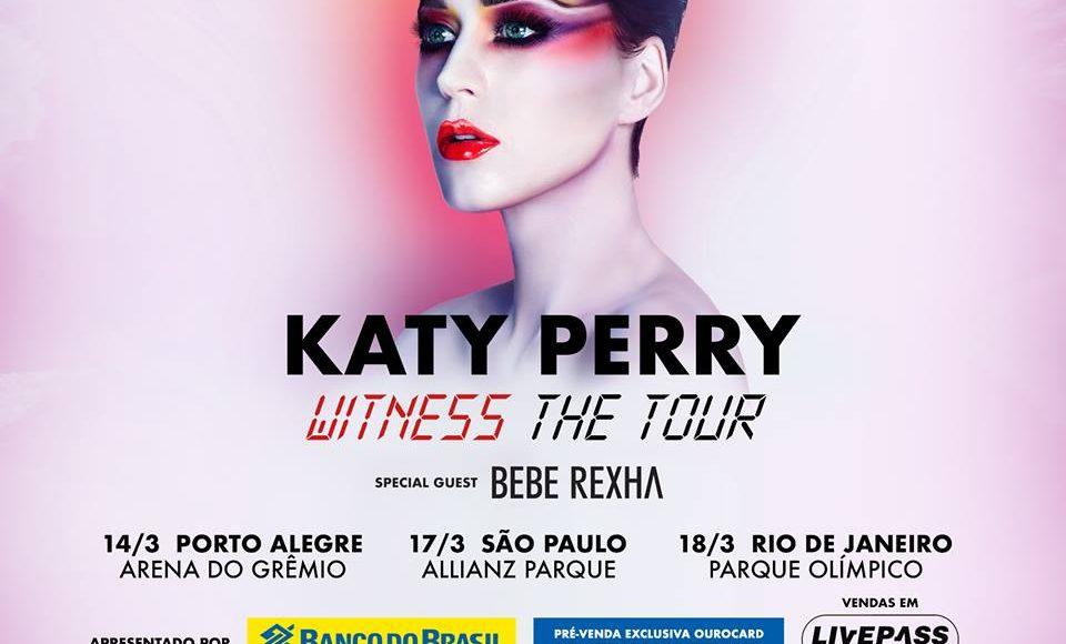 Excursão  KATY PERRY 2018 Ribeirão Preto e Região