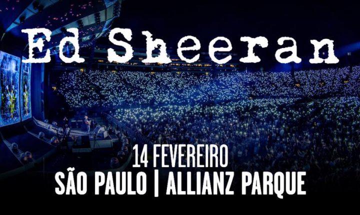 Ed Sheeran volta ao Brasil em 2019 para shows em São Paulo e Porto Alegre