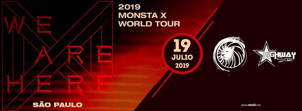 Excursão MONSTA X WORLD TOUR-  Ribeirão Preto e Região 19.07